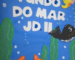 capa de caderno fundo do mar