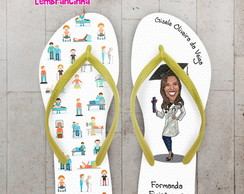Chinelo Formatura Fisioterapia Ícones