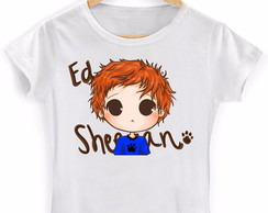 Camiseta Baby look Ed Sheeran Branca