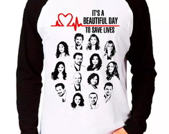 Camiseta Grey's Anatomy Beautiful M.Long