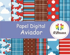 Kit 12 Papel Digital- Aviador
