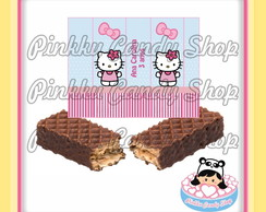 Rótulo Chocolate Wafer Hello Kitty