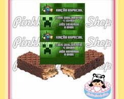 Rótulo Choclate Wafer Minecraft