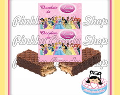 Rótulo Chocolate Wafer Princesas