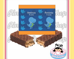 Rótulo Chocolate Wafer Dinossauros