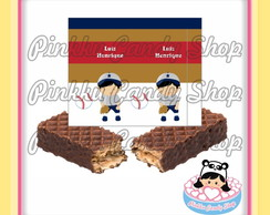 Rótulo Chocolate Wafer Baseball
