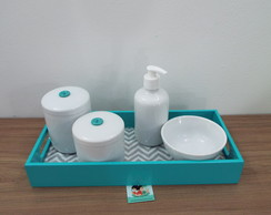 Kit Higiene Essencial Chevron e Tiffany