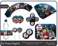 Kit Festa Digital - Vingadores