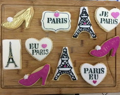 Biscoitos Decorados Tema Paris