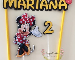Kit Topper para bolo Minnie