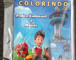 Kit de colorir patrulha canina