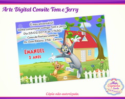 Convite Digital Tom e Jerry