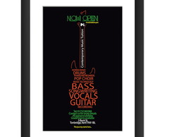 Quadro Bandas Musica Rock Jazz Hard Cult