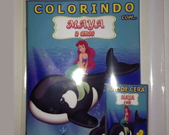 Kit de colorir Ariel
