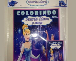 Kit de colorir cinderela