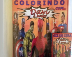 Kit de colorir super herois