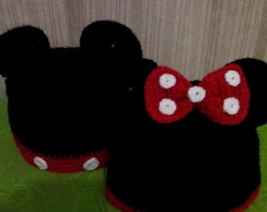 touca minie e mickey crochê