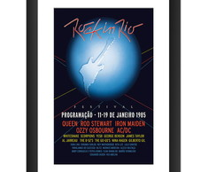 Quadro Rock In Rio Banda Rock Queen Iron