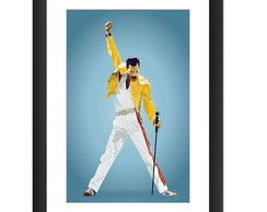 Quadro Freddie Mercury Queen Banda Rock