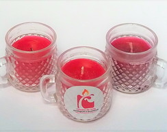 KIT Seis (6) Velas Xícaras Diamantada
