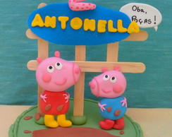 Vela Peppa e George Biscuit