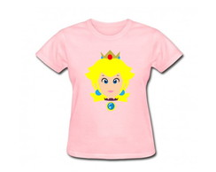 Camiseta Adulto Princesa Mario Bros