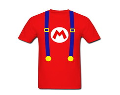 Camiseta Adulto Mario Bros