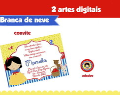 Kit Digital Branca de Neve - 2 artes