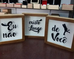 Kit 3 Quadros Decorativo