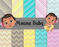 Kit Scrapbook Digital Moana Baby
