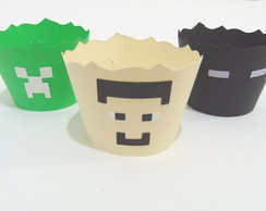 Wrapper Saia Cupcake Minecraft - 12unid