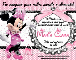 Arte digital Convite Minnie - via email