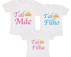 Kit 3 Camiseta Coroa Princesa