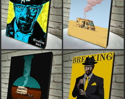 Combo Poster A4 Breaking Bad 4 Peças