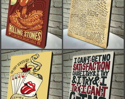 Combo Poster /Quadro 4 Pçs Rolling Stone