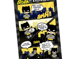 Convite Digital Gibi Batman Cute