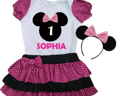 Conjunto Minnie Body Saia Tiara