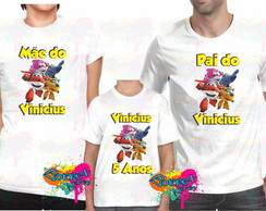Camisa Personalizada Super Wings