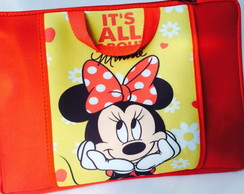 Capa Notebook c/ bolso Minnie Mouse 15.6