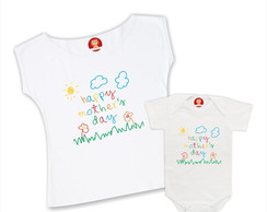 Kit Camisetas Happy Mother Day - Dia das Mães