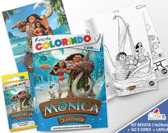 Kit Revista + Giz + Lapela - Moana