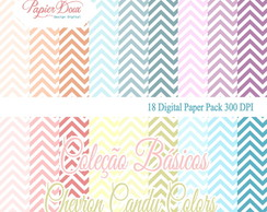 Kit Digital Chevron Candy Colors