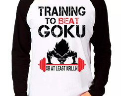 Camiseta Training To Beat Goku M. Longa