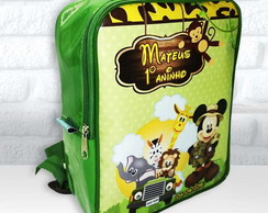 Mochila personalizada safari do mickey