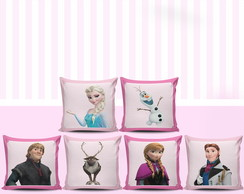 Almofadas Decorativas Frozen - Kit 6 Un.