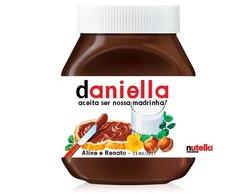 Rotulo Nutella 140grs