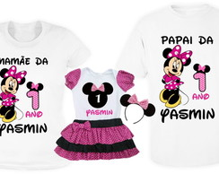 Kit Camisetas e Conjunto Body Minnie