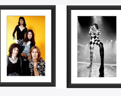 2 Quadros Freddie Mercury Queen Rock