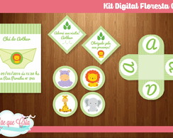Kit Festa Digital Floresta Baby