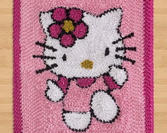Tapete Personagem Hello Kitty Rosa Malha
